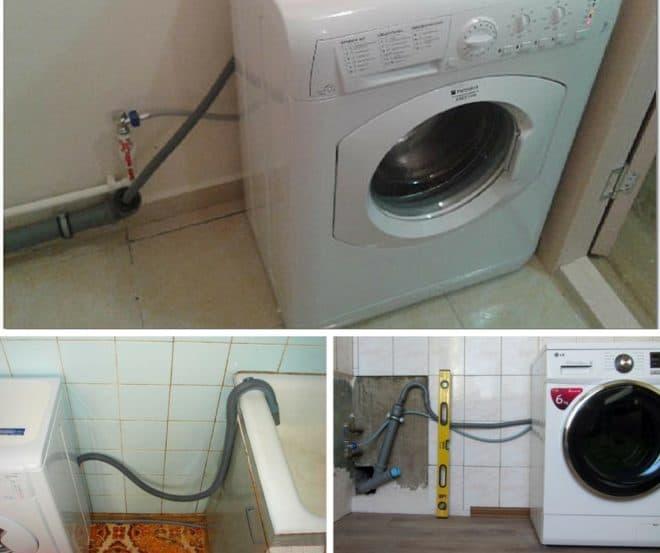 разные методы подключения стиральной машины