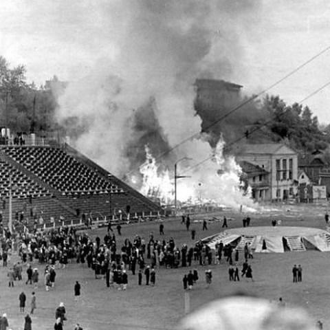 25 мая в Кирове произошел взрыв на стадионе