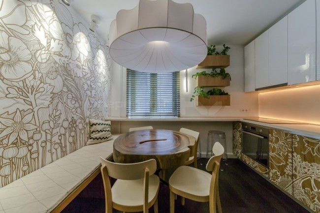 Дизайн кухни с окном: реальные фото примеры. Дизайн кухни с большим окном или двумя окнами (100 фото)