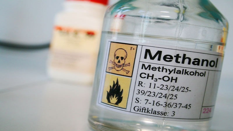 What kind of flame burns methyl alcohol  Useful knowledge