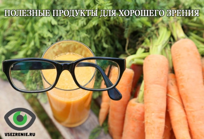 Полезные продукты для хорошего зрения
