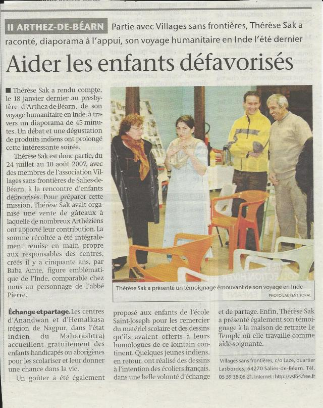 Presse Arthez 2008