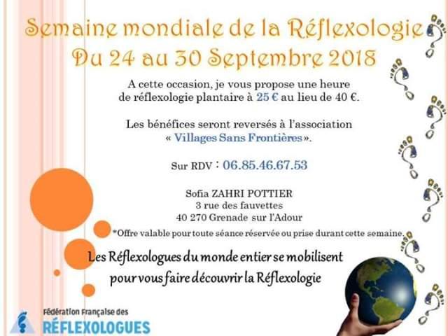 Semaine mondiale réflexologie 2018