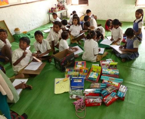 Les fournitures scolaires offertes par les membres ou sympathisants de VSF