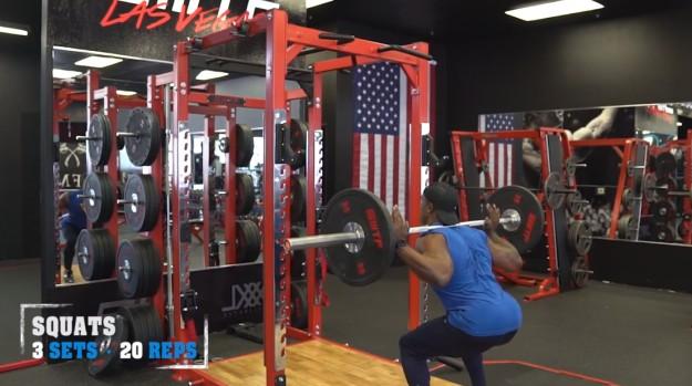 Barbell Squats   V Shred's Ultimate Full Leg Workout