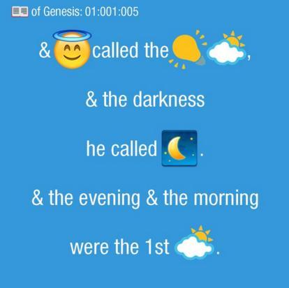 Фото: Bible Emoji/Twitter