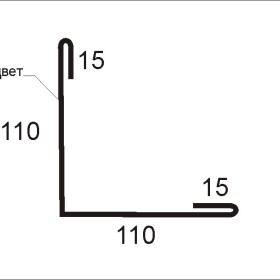 Планка угла наружного ПНУ-01 L=2000mm W=250mm
