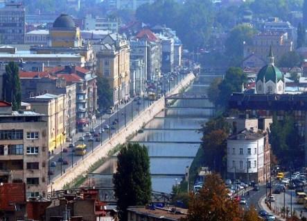 pogled od Skenderije pa do Narodnog pozorista