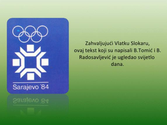 """""""Olimpijski korijeni"""" Izdavac Smucarski savez BiH"""