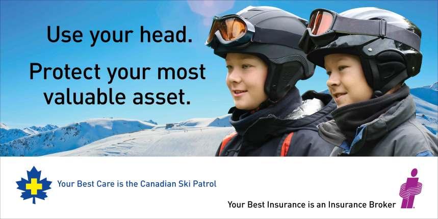 """Poster IBAC Ski patrole USA """" Koristi glavu"""". zastiti svoju najvrijedniiju asset""""."""