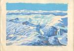 Jahorina panorama, akvarel Zlatko Seselj