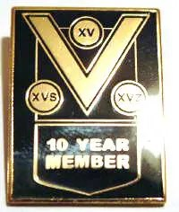 10 Year Member Pin Badge