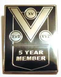 5 Year Member Pin Badge