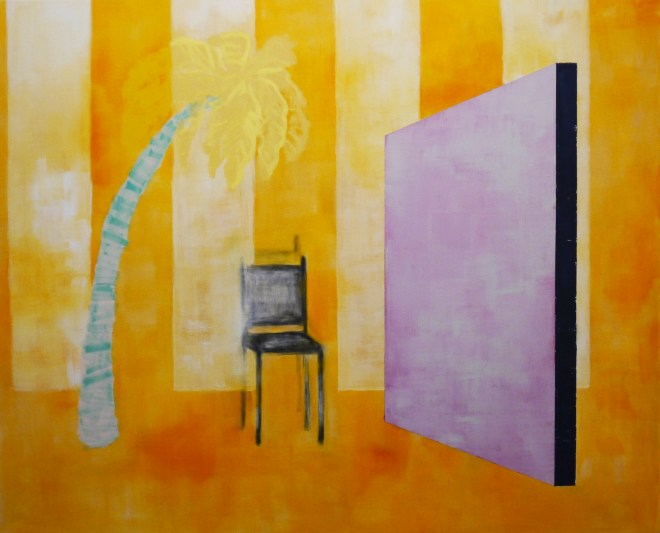 Sit and Pry. Oil and Flashe on canvas. 132 x 162cm.