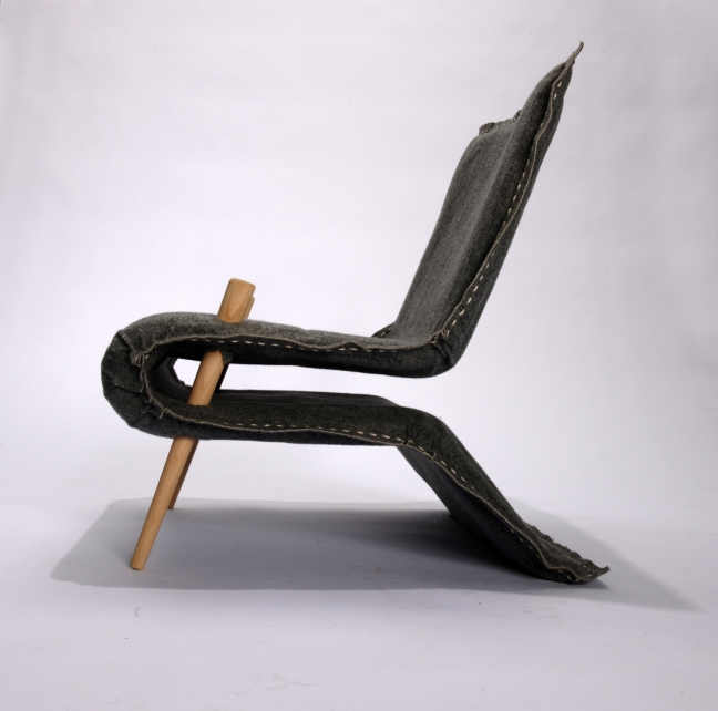 "The Carpet Lounge Chair was created as the final product of the school project ""Textile Furniture"""