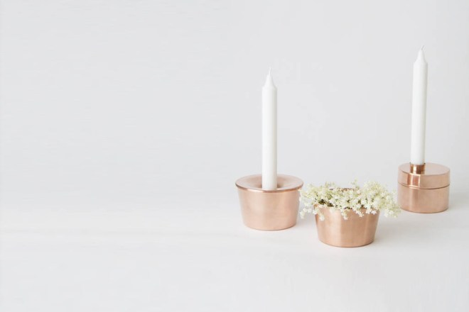 Candle Holders for Svallings. In collaboration with Anya Sebton.