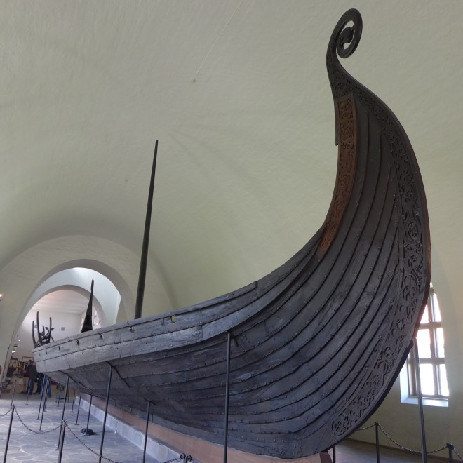 Viking Ship Museum. 3 Viking ships from the 9th Century AD excavated from Royal Viking burial mounds in the 19th Century.