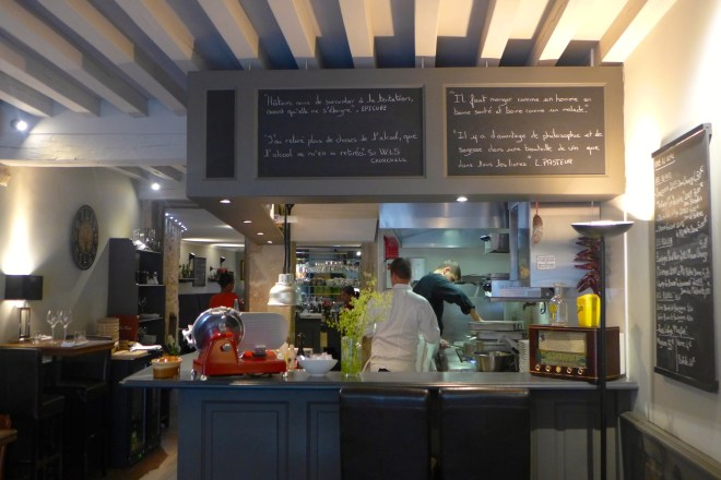 The open kitchen at L'Ardoise, nice to be able to see the chefs at work.