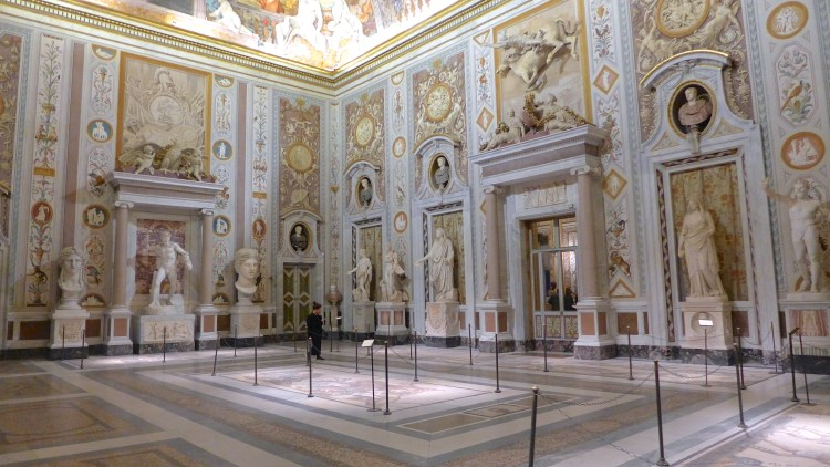 The entrance hall of the Galleria Borghese, Rome.