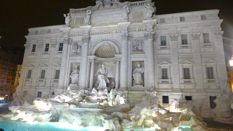 Fontana di Trevi after a 17 month cleaning and restoration the fountain is as stunning as ever, I think especially so at night.