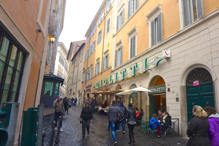 Giolitti on Via Uffici del Vicario was founded in 1890 and has the best gelato in town.