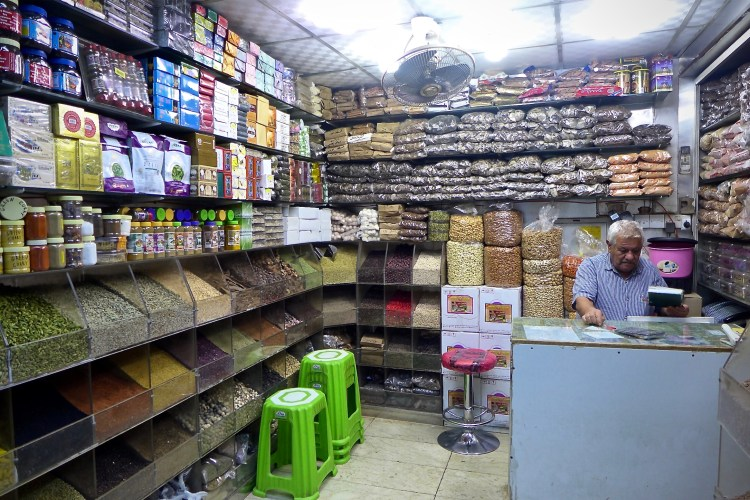 Shops at the Spice Souk sell everything from garam masala to camel chocolate.