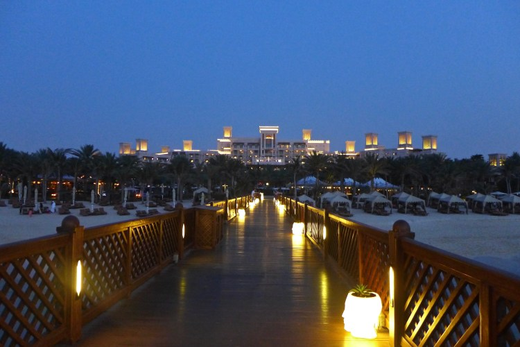Al Qasr at dusk from the pier.