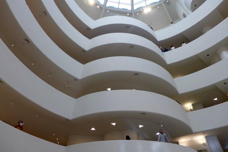 Frank Lloyd Wright's beautiful lines inside the Guggenheim.