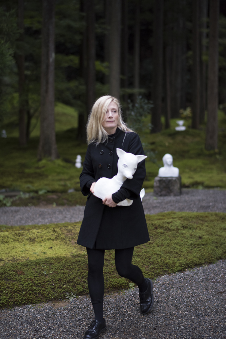 "Karin Wiberg in the Moss Garden ""The Forest of Wisdom"", Komatsu, Japan. Photo: Gustav Karlsson Frost / Frosty"