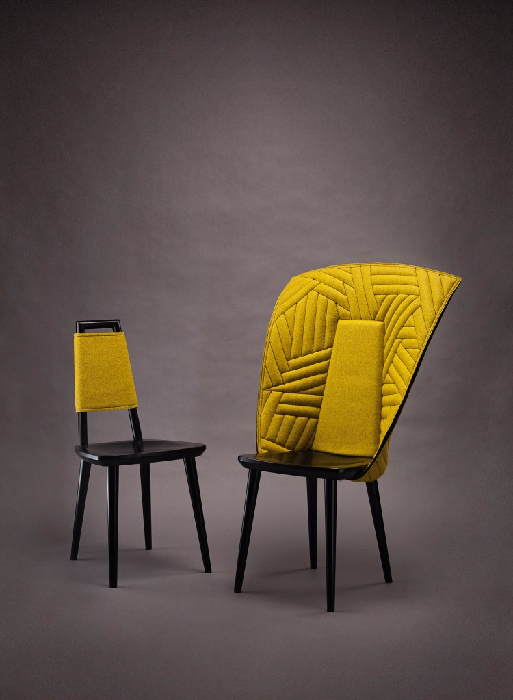 F-A-B Chair can be dressed by a number of different garments for the chair. Färg & Blanche. V Söderqvist Blog.