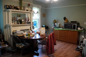 The temporary kitchen