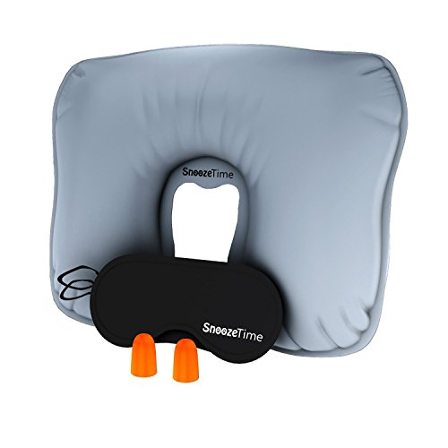 travel inflatable pillow full sleep set neck wedge pillow by snooze time vstar getaways