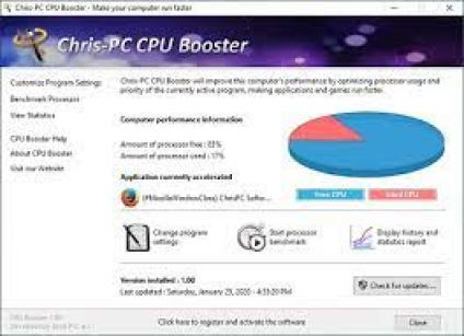 Chris-PC CPU Booster 1.19.15 Crack With Serial Key {Latest 2021}