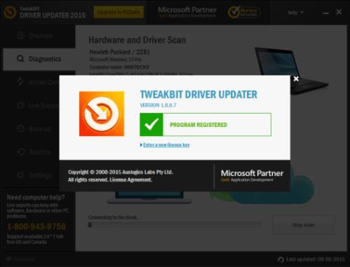 TweakBit Driver Updater 2.2.4.56138 Crack + Serial Key Free Download
