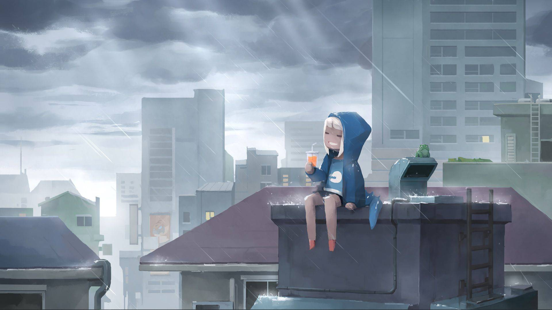 Hd wallpapers and background images. Lofi Hip Hop Rain in 4K - anime live wallpaper #32954 ...