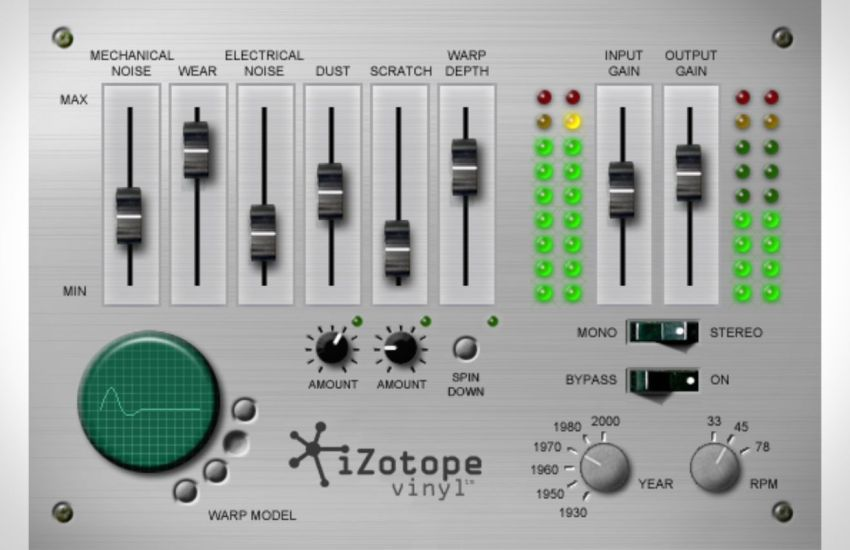 iZotope Vinyl v1.80 Crack (Win & Mac) Latest Version Free Download