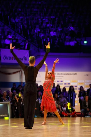December 11, 2016 - Bremen, Germany. WDSF World Championship Formation Latin Adult in ÖVB Arena, Bremen. (Credit Image; vstudio.photos)