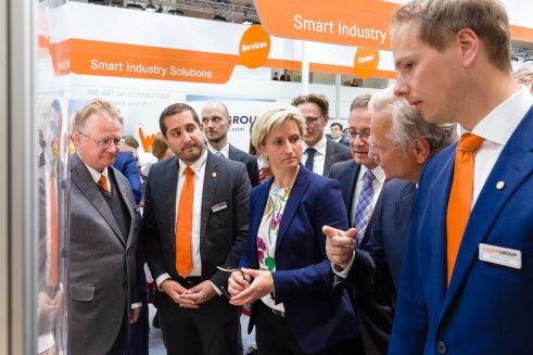 April 25, 2017 - Hannover, Germany. Lapp Group at Hannover Messe, Hannover. (Credit image; vstudio.photos)