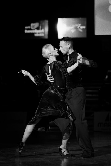Stuttgart - 07.08.2018: Show Professionals Standard, German Open 2018 in Stuttgart (Kultur- und Kongresszentrum Liederhalle), Germany on August 7 2018. Photo by: vstudio.photos