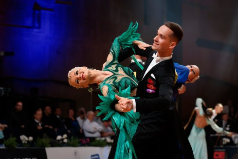 Stuttgart - 10.08.2018: WDSF GrandSlam Standard, German Open 2018 in Stuttgart (Kultur- und Kongresszentrum Liederhalle), Germany on August 10 2018. Photo by: vstudio.photos