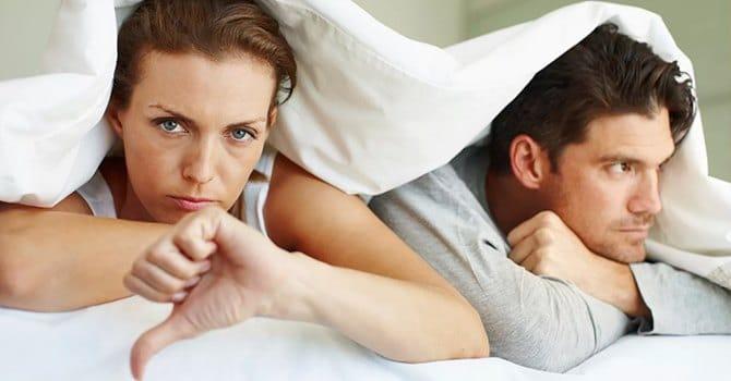Errori principali Uomini a letto