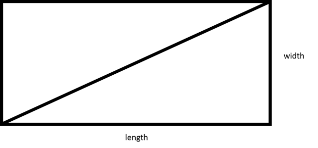 How to find the length of the diagonal of a rectangle - Basic Geometry