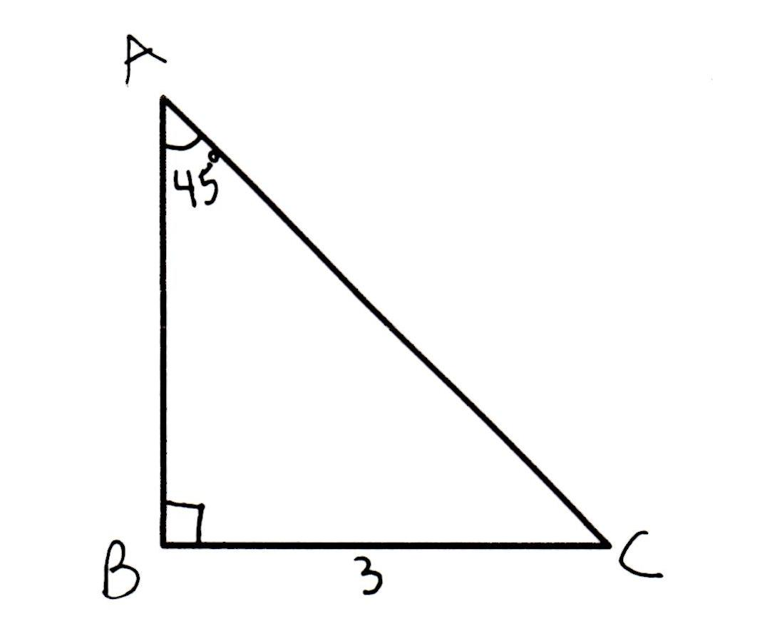 How To Find The Height Of A 45 45 90 Right Isosceles