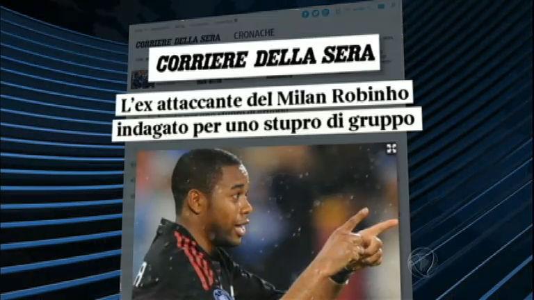 Novo escândalo: Robinho é acusado de estupro coletivo na Itália - RecordTV  - R7 Jornal da Record