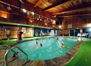 indoor pool at chimney hill clubhouse