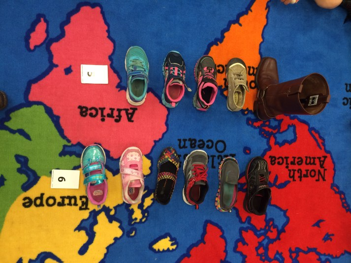 We sorted and organized our shoes into a graph