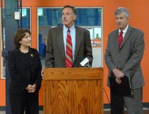 Markowitz, Shumlin and Racine, left to right