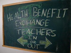 Whether or not teachers and school employees will participate in the health benefit exchange is still in question. VTD/Josh Larkin