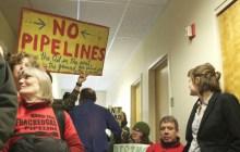 Dozens protest gas pipeline at Public Service Board's office