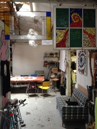 Terry Zigmund's shared studio off Pine Street. Photo by Jess Wisloski/VTDigger